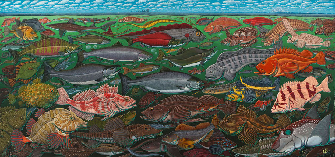 Fishes of the Salish Sea Mural at UW