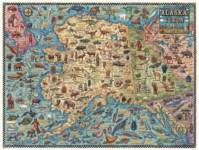 FOSSIL MAP OF ALASKA & THE YUKON
