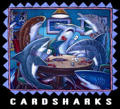 CARD SHARKS ART POSTER