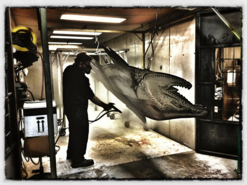 Spray booth at Tri Jet in Palmer, Alaska