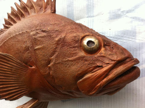 Yellow Eye Rockfish. AKA Red Snapper bronze by Gary Staab
