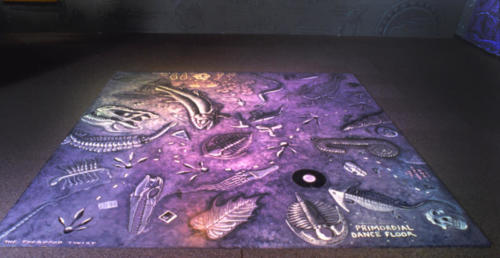 The hand-painted dance floor