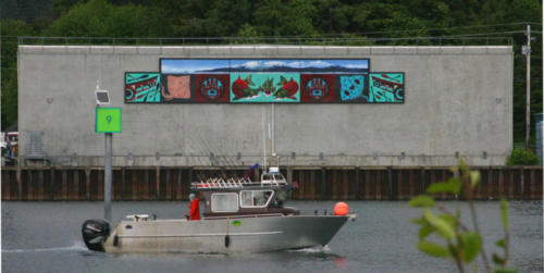 'Sitka Wild Fish Mural' with Will Burkhart, Roberto Salas, and Memo Jauregui