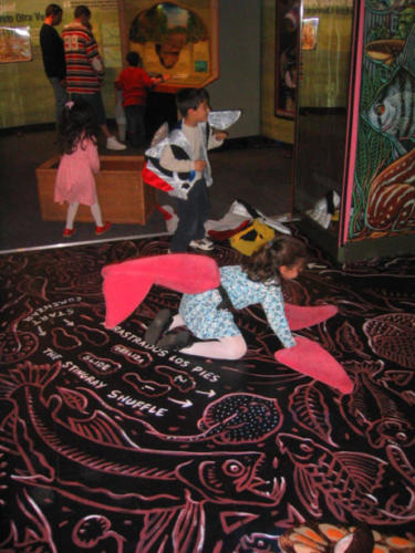 The dance floor in action at the Miami Science Museum
