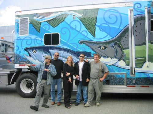 Alaska Department of Fish and Games' hand painted mobile classroom