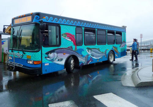 Hand painted city bus for Ketchikan Gateway borough