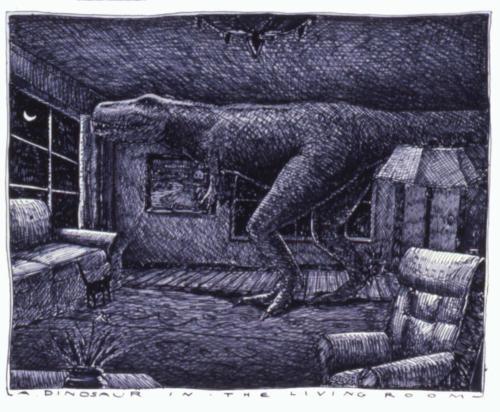 Dinosaur in the Living Room