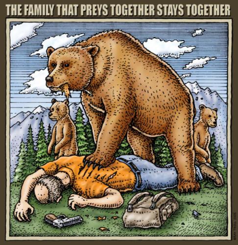 Family Tha tPreys Together Satys Together