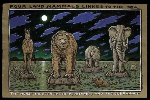 Four Land Mammals
