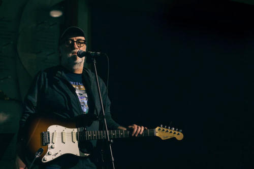 Ray at the Seattle Aquarium with his trusty stratocaster