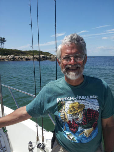 John Holdren, Obama's chief scientist, in a Kvetch and Release shirt
