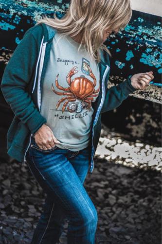 LaDonna Rose Gundersen in a 'Shelfie' shirt