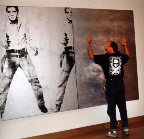 Mike Mccafferty and Andy Warhol