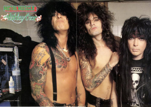 Mötley Crüe with Mick Mars in a Spawn shirt