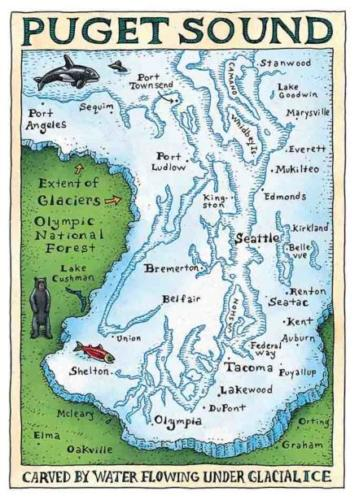 Puget Sound Glacial Map