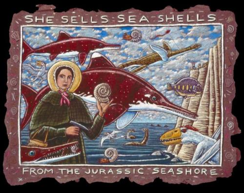 She Sells Sea Shells by the Seashore (Mary Anning portrait)