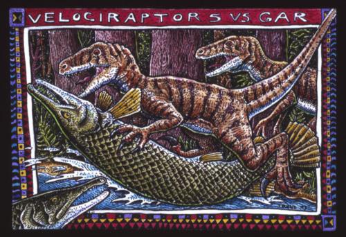 Velociraptors Vs Gar