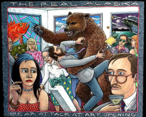 Bear Attack at Art Opening