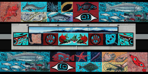 Wild Fish Mural, community mural project