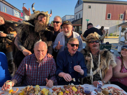 Hanging with the governor, local Vikings and the Norwegian Ambassador