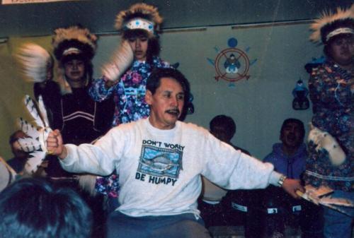 Yupik elder Andy Paukin at the 1992 Festival