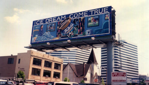 Way back in 1992 I designed a billboard for Fratelli's Ice Cream, one of the first gourmet ice cream companies.