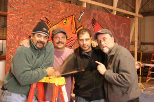 Roberto Salas, Will Burkhart, Memo Jauergui and yours truly