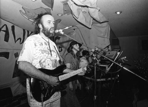 Squawking Fish playing at the Son of Norway Halloween dance in 1987. with Carolyn Minor on vocals