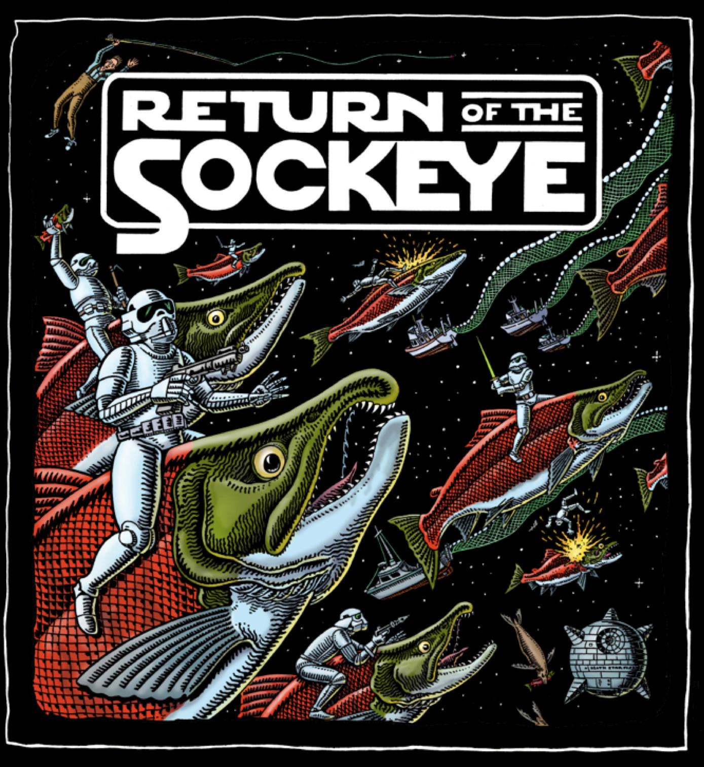 RETURN OF THE SOCKEYE - HOODED SWEAT