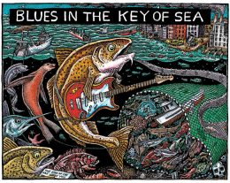 BLUES IN THE KEY OF SEA ART POSTER