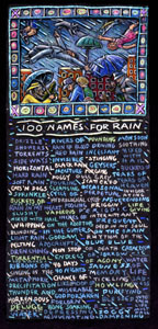 ONE HUNDRED NAMES FOR RAIN ART POSTER