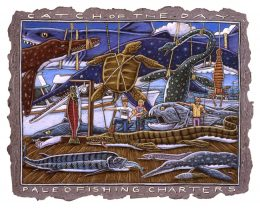 PALEO FISHING CHARTERS ART POSTER