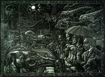 RAIN ON THE PARADE ART POSTER