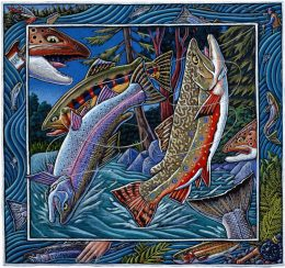 TWIST & TROUT ART POSTER