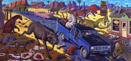 CRUISING THE FOSSIL FREEWAY ART POSTER