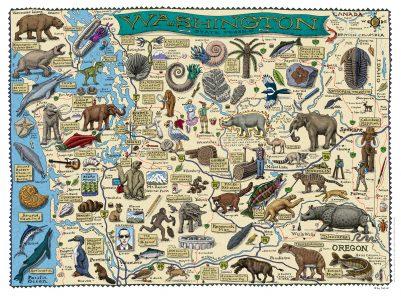 FOSSIL MAP OF WASHINGTON