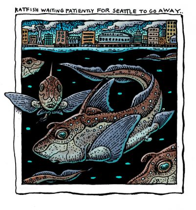 RATFISH WAITING FOR SEATTLE TO GO AWAY ART POSTER