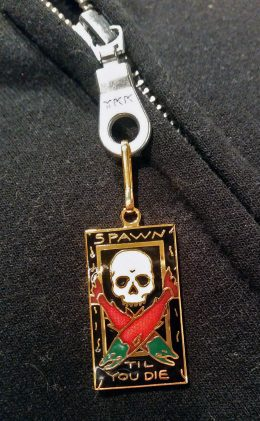 SPAWN TILL YOU DIE ZIPPER PULL