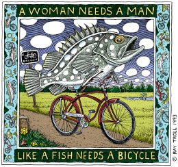 A WOMAN NEEDS A MAN ART POSTER